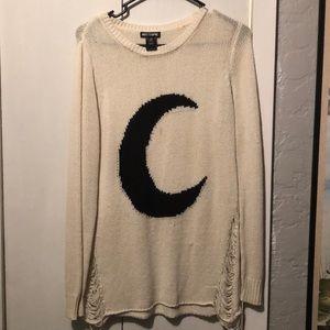 White moon sweater